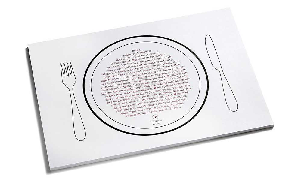 Paper placemats by Clodette