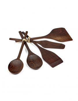 KITCHEN TOOLS PURE WOOD SET/5 31X12,8 H0,9 CM