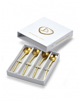 CUTLERY SET IN GIFTBOX GOLD PERFECT IMPERFECTION