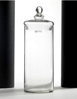 GLASS JAR WITH LID L