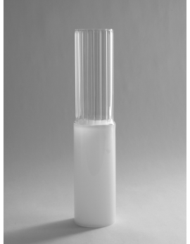 VASE LINES M TRANSPARENT/WHITE