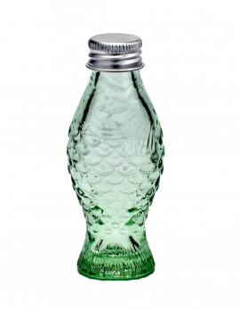 BOTTLE WITH LID 50CC  2,6X3,2 H11 TRANSPARENT GREEN