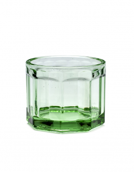 GLASS M TRANSPARENT GREEN FISH & FISH