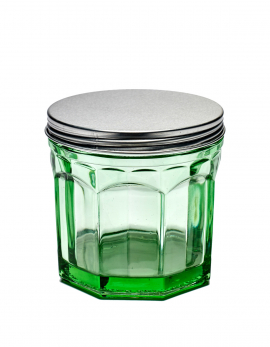 JAR WITH LID S TRANSPARENT GREEN FISH&FISH