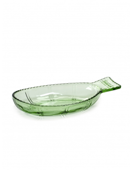 SERVING PLATE TRANSPARENT GREEN FISH&FISH