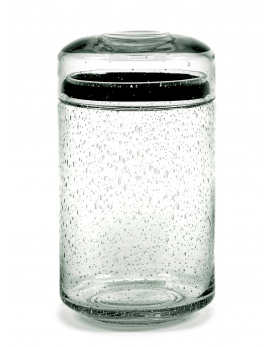 STORAGE POT GLASS L PURE D12 CM H22 CM