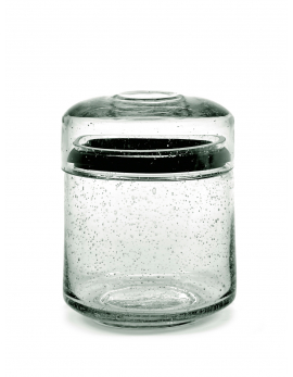 STORAGE POT GLASS M PURE D12 CM H16 CM