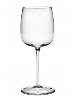 RED WINE GLASS CURVED VVD H23cm D9,6cm 45CL