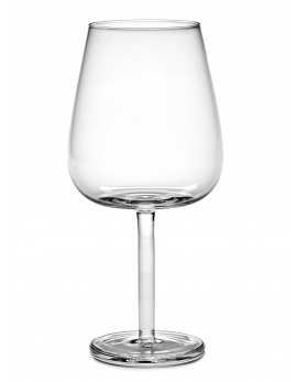 RED WINE GLASS CURVED BASE