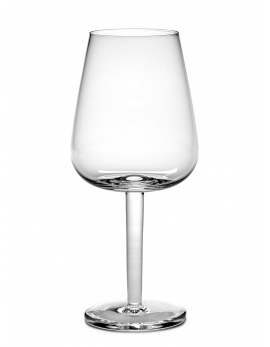 WHITE WINE GLASS CURVED BASE