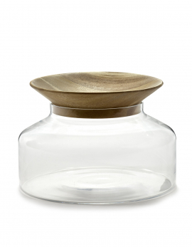 JAR WITH LID L TRANSPARENT NOVECENTO