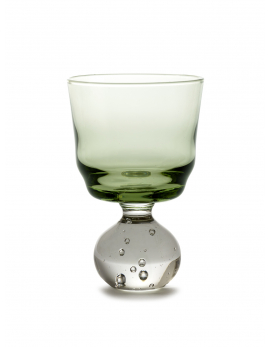 STEM GLASS S GREEN ETERNAL SNOW