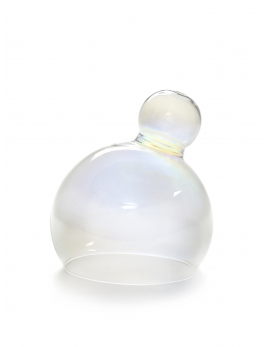 GLASS BELL SPHERE TRANSPARENT