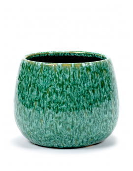 POT SEAGRASS GREEN D17,5 H14,5 CM