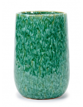 VASE SEAGRASS GREEN D16 H24 CM