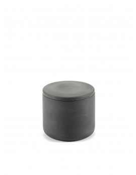 BOX WITH LID ROUND S DARK GREY COSE