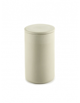 BOX WITH LID ROUND L BEIGE COSE
