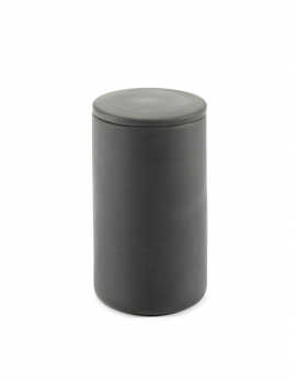 BOX WITH LID ROUND L DARK GREY COSE