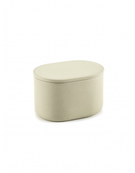 BOX WITH LID OVAL L BEIGE COSE