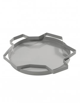 DEKORATIVE SCHALEN GRAU METAL TRAYS