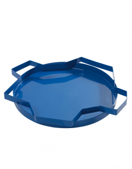 DEKORATIVE SCHALEN BLAU METAL TRAYS