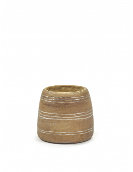 FLOWER POT S BROWN