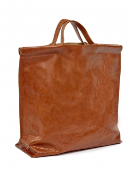 SHOPPER BAG COGNAC BAGS BY BEA MOMBAERS