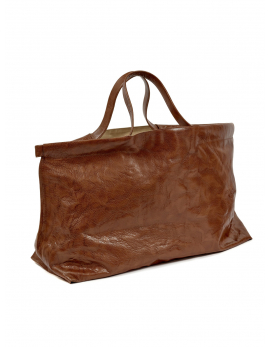 SHOPPER XL COGNAC BAGS BY BEA MOMBAERS