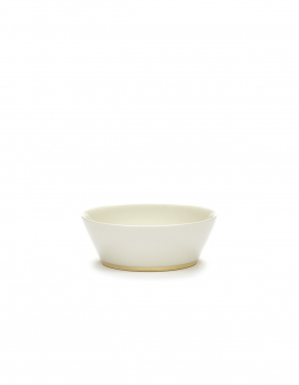 BOWL M WHITE/GOLD DESIREE
