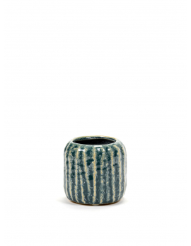 FLOWER POT S BLUE GREY SIXTIES