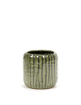 FLOWER POT M GREEN SIXTIES