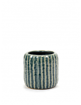 FLOWER POT M BLUE GREY SIXTIES