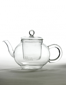 TEAPOT GLASS 2 PERSONS DIA21 H13