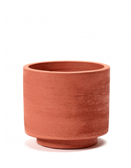 POT CYLINDRIQUE ROUGE D15 H13