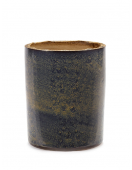 FLOWER POT XL BLUE SPECKLES