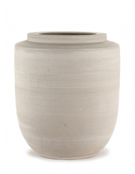 PLANT POT BEIGE VOLUMES