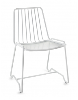 DINING CHAIR FISH & FISH 55x48 H78 ALU WHITE