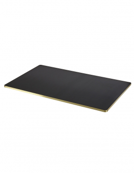 PLATEAU DE TABLE NOIR/BORD EN OR SANBA