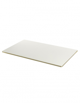 PLATEAU DE TABLE BLANC/ BORD EN OR SANBA