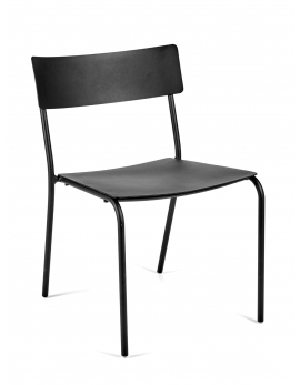 CHAIR WITHOUT ARMRESTS BLACK AUGUST