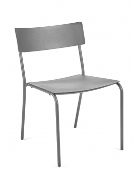CHAIR WITHOUT ARMRESTS GREY AUGUST
