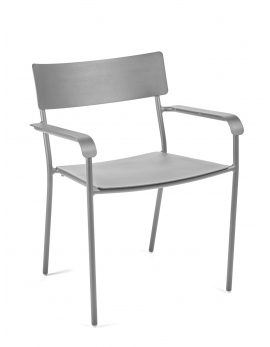 CHAIR WITH ARMRESTS GREY AUGUST
