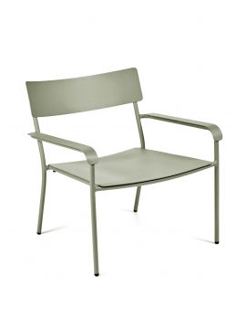 AUGUST LOUNGE CHAIR ALU EUCALYPTUS GREEN 64X60 H70