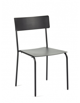 CHAIR NO ARMRESTS BLACK AUGUST