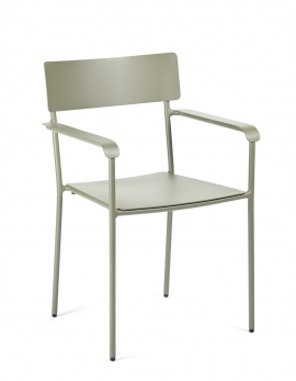 CHAIR WITH ARMRESTS EUCALYPTUS GREEN AUGUST