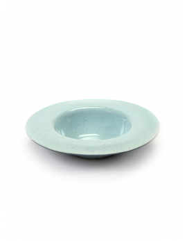 DEGUSTATION SMALL ROUND D21,3 H5 CM LIGHT BLUE/SMOKEY BLUE