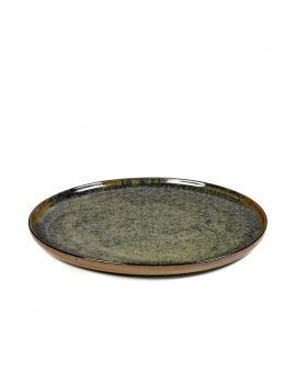 ASSIETTE M INDI GREY SURFACE