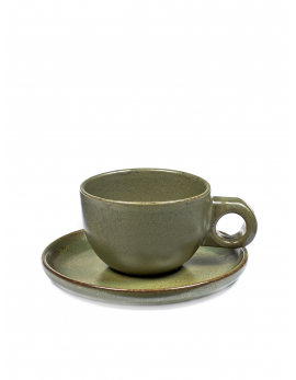 KOP CAFE LUNGO MET SCHOTEL CAMO GREEN SURFACE