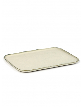 ASSIETTE RECTANGULAIRE N°1 XL OFF WHITE MERCI