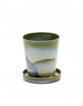 HERBS POT S WITH SAUCER 8,8X8,8X9,6 CM